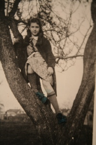 Grandma in a tree, 1940